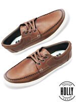 New Men's Casual Boat Shoe Comfort Leather Fashion Sneaker Holly Shoes (STR010A)