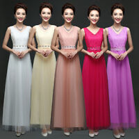 Women Formal Bridesmaid Dress Long Maxi Dresses Party Cocktail Evening Prom Gown
