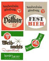 3 alte Bieretiketten Traubenbräu Günzburg