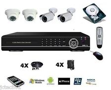 Kit vidéo surveillance 8 voies, enregistreur DVR IP 8ch 1To + 4 caméra IR J/N
