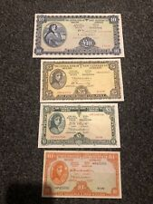 More details for lady lavery irish banknotes set. excellent condition. 10 shilling,£1,£5,£10