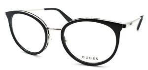 GUESS GU2706 001 Women's Eyeglasses Frames 52-17-140 Black / Silver