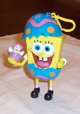 SPONGEBOB SQUARE PANTS 2006  CLIP ON EASTER EGG HOLDING A HATCHING CHICK
