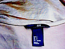 H&M NudeSlinkyGoldLowVneck SizeS as NEW