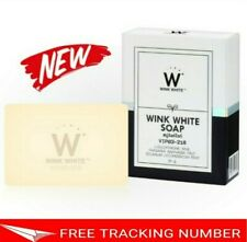 2x WINK WHITE SOAP Gluta Lightening Brightening Whitening Face Body Skin 80g.