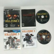 Killzone 2 and 3 Lot Bundle Complete PS3 Sony Playstation 3 w Manual CIB