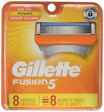 Gillette Fusion 5 Power Cartridges 8 ea (Pack of 6)