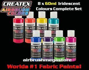Createx Airbrush Colors 60ml Iridescent 8 Colour Set + Free Insured Post