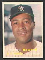 1957 Topps #82 Elston Howard YANKEES NICE VG-EX