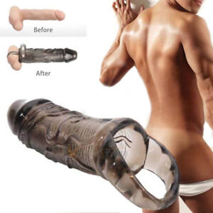 Extension-Realistic-Thick-MALE-Girth-Enhancer-Enlarger-Penis-Extender-Sleeve