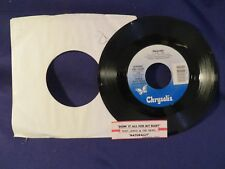 HUEY LEWIS & THE NEWS Naturally/Doing It All For My  45 Record CHRYSALIS RECORDS