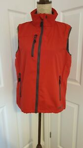 MUSTO Mens Sardinia Gilet bodywarmer size Small red sailing excellent condition
