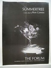 SUMMERTREE Large Program BLYTHE DANNER / DAVID BIRNERY / RON COWEN NYC 1968