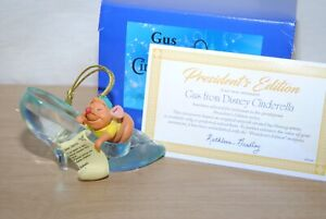 Grolier / Early Moments Disney Gus From Cinderella Xmas Tree Ornament President