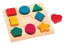 Guidecraft Shape and Color Sorter Wooden Manipulative Toy Puzzle New
