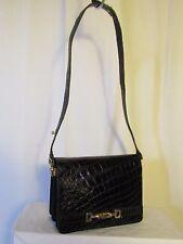sac vintage croco noir
