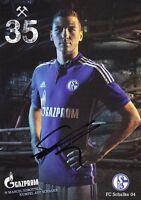 Marcel Sobottka + FC Schalke 04 + Saison 2014/2015 + Original Autogrammkarte
