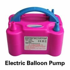 Electric Balloon Pump Air Inflator Portable Blower Double Hole Nozzle Party Tool