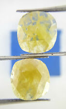 Rare Very Big 5.30Ct Yellow Oval Rose cut Loose Natural Diamond Pair for Earring