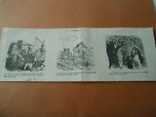 Caricature 1869 - L'agriculture à Vélocipède pouvant se passer de bras
