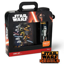 Kids Lunch Box Set & Water Bottle, Star Wars Rebels Lunch Set for Boys & Girls