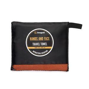 Snugpak Travel Towel Hands & Face - Antibacterial Fabric Travel Hiking Camping