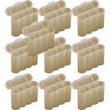 10 WHITE AA AAA BATTERY BATTERY PLASTIC STORAGE CASE HOLDER BOX