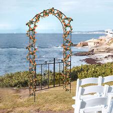 Garden Arch with Steel FrameTrellis Gate for Wedding Decor Climbing Plants Grow