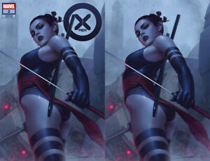 X-Men #2 Marvel 2021 Jeehyung Lee Psylocke Variant Set 2 Trade Virgin