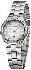 BULOVA #96R106  GENUINE DIAMOND BEZEL  WOMEN'S SILVER STAINLESS STEEL WATCH $499
