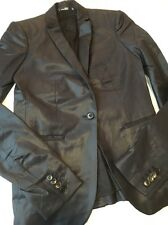 Helmut Lang Black Stretch Wool Jacket Blazer 0 XS S Small New NWOT