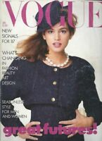 Chanel 'Empire Line' 1987 vintage VOGUE designer fashion magazine Cindy Crawford