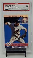 2003 Upper Deck Yankees 100th Anniversay DEREK JETER Card PSA 7 NEAR MINT Pop 4