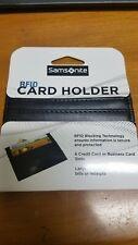 Samsonite RFID Blocking Credit Card Holder Wallet  Black-NEW-IN PACKAGE