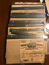 12 US Internal Revenue Special Tax Tobacco Dealer Stamp Sheets RARE