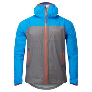 OMM Halo+ Men's Waterproof Running Jacket, Grey/Blue