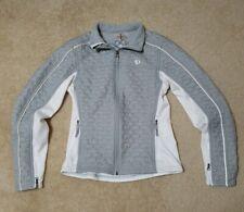 Pearl Izumi Women's Small Gray and White  Full Zip jacket VGUC