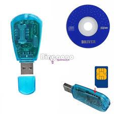 Blue USB SIM Card Reader GSM CDMA Mobile Phones SMS Backup New