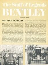 1921 1927 1928 Bentley 6.5 and 4.5 Litre Original Car Review Print Article J443