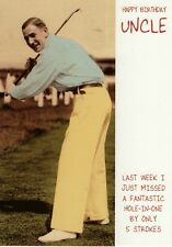 Happy Birthday Uncle Funny Golf Card Humour Birthday Greetings Cards