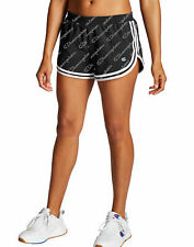 Champion Women's Shorts Print Script Logo All Over Double Dry Light Workout GYM