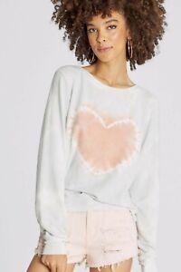 Wildfox Heartfelt Tie Dye Pullover $108 NWT Small