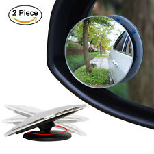 2PCS Side 360 Angle Round Car Vehicle Blind Spot Dead Zone Rear View Mirrors