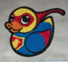 Embroidered Retro Mod Masked Super Hero Rubber Duckie Duck Patch Iron On Sew USA