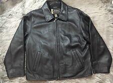 Eddie Bauer Legend Women's Sz L Zip Up Genuine Leather Stine Jacket Black