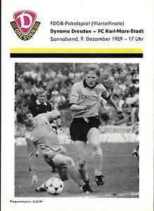 FDGB-Pokal 89/90 Dynamo Dresden - FC Karl-Marx-Stadt, 09.12.1989