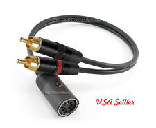 Din-7 F to 2 RCA Male Bang & Olufsen Grade Audio Cable , 1ft.