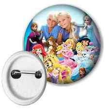 Disney Princesses Personalised Photo Button Pin Badge 50mm