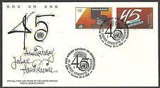 UNO-Wien/ 45 Jahre UNO MiNr 104/05 FDC