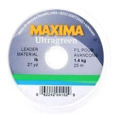 Maxima Ultragreen Leader Material 4lb 0.18mm 25m Spool Tippet New